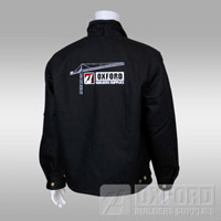 jacket black tough duck obs back