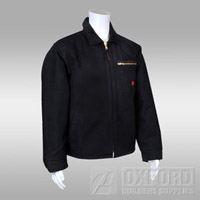 jacket black tough duck obs front