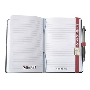 Notebook with Red Bookmark 3