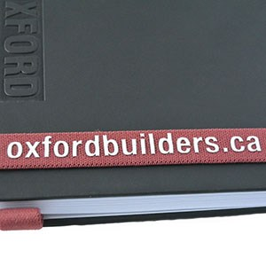 Notebook with Red Bookmark 5
